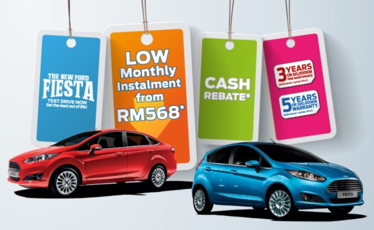 Ford Fiesta as Low as RM568* a Month!