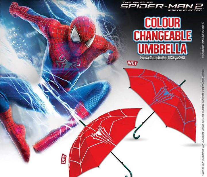Limited Edition The Amazing Spider-Man 2 Rise of Electro Colour Changeable Umbrella