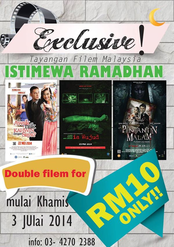 One Cinemas – RM10 for Any of The 2 Local Titles.