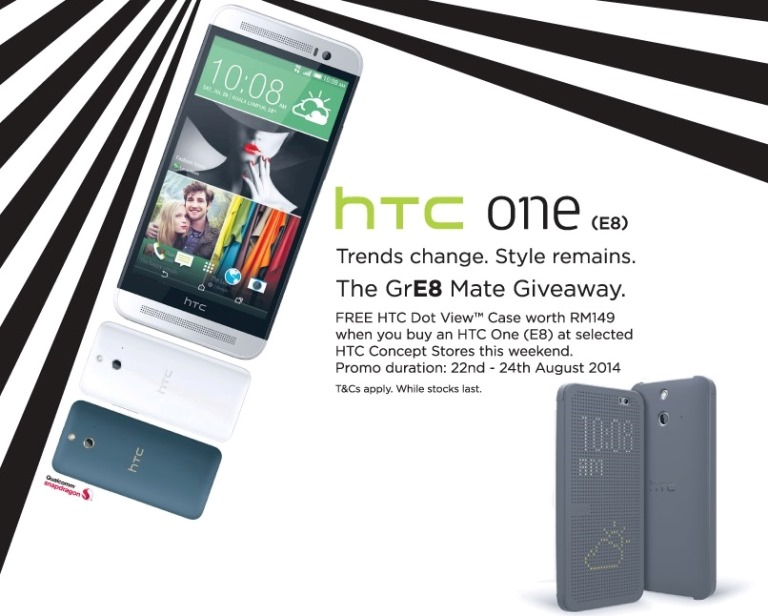 HTC One E8 – HTC GrE8 Mate Giveaway