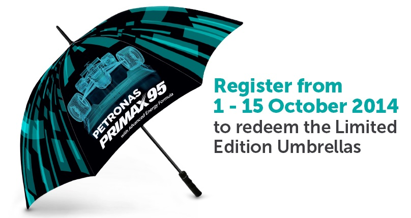 Free Limited Edition Petronas Umbrellas
