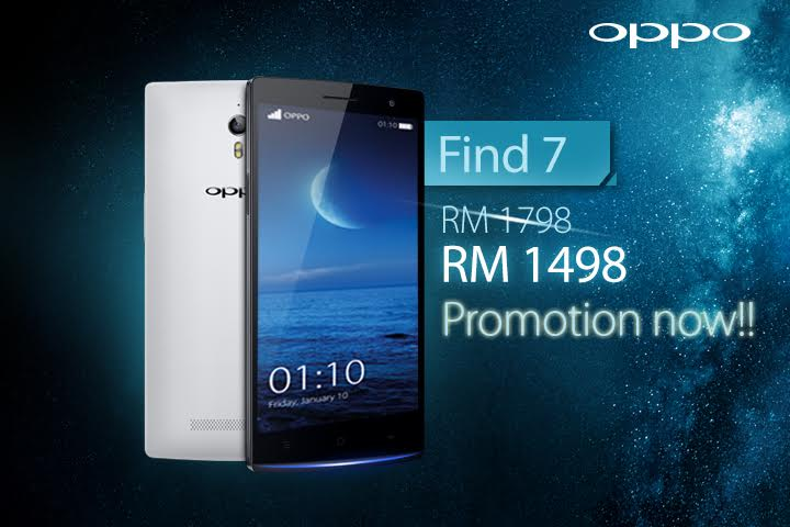 OPPO Find 7 Shifting From RM1798 to RM1489