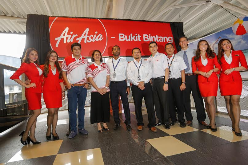 AirAsia paints Bukit Bintang Monorail Station red!