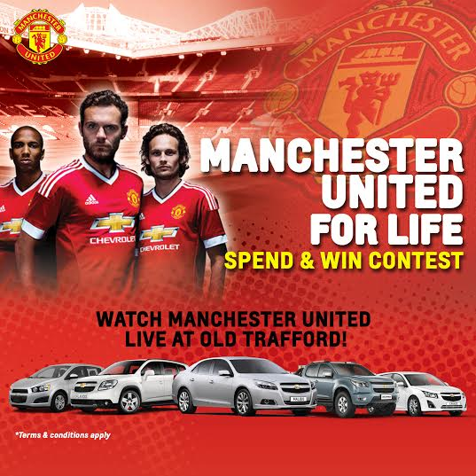 Chevrolet – Chance to Watch Man Utd vs. Chelsea Live!