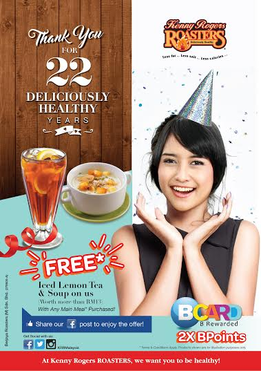 Kenny Rogers ROASTERS - 22 Deliciously Healthy Years