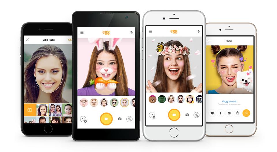 "LINE Releases Instant Transformation Selfie App ""egg"""
