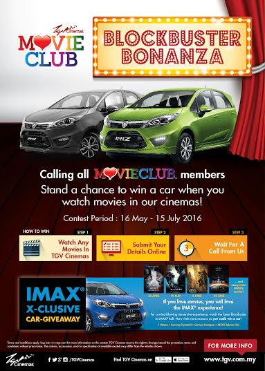 Proton Iriz for Members of TGV Cinemas MovieClub