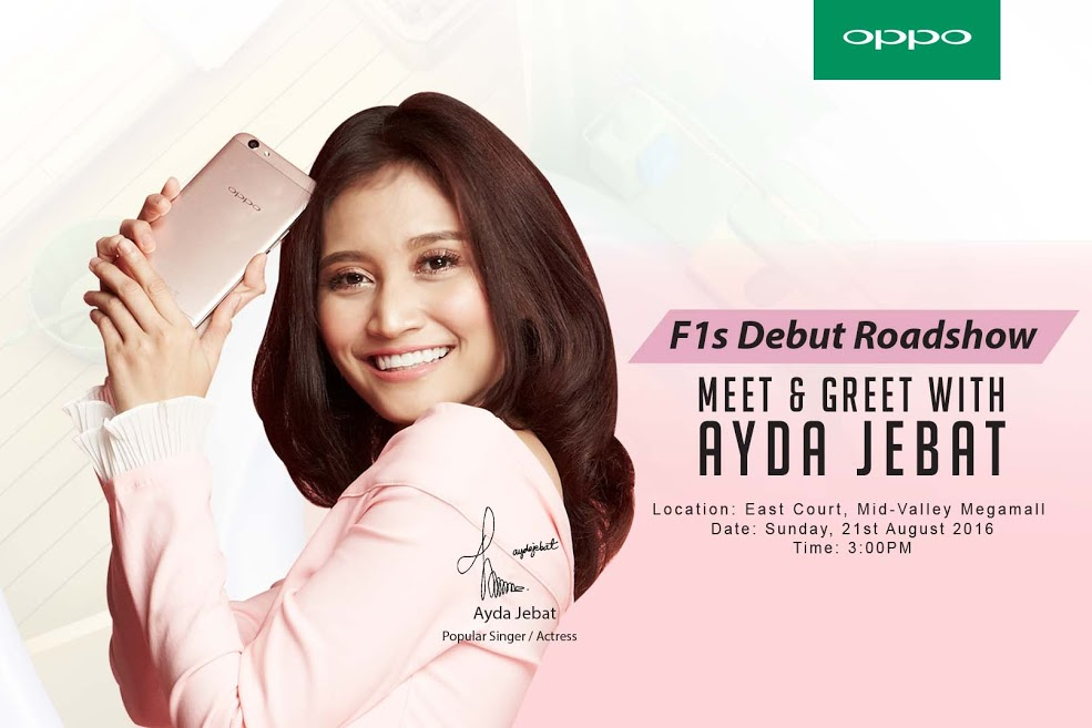 Ayda Jebat and Min Chen at the Debut Roadshow of OPPO F1s