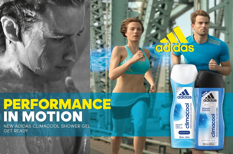 Adidas Climacool Shower Gel Releases Fresh Fragrance During Movement
