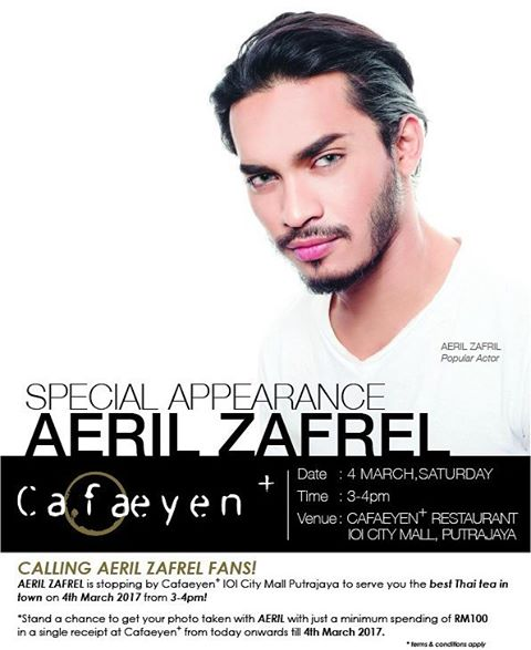 Aeril Zafrel Make Special Appearance at Cafaeyen+ IOI City Mall Putrajaya