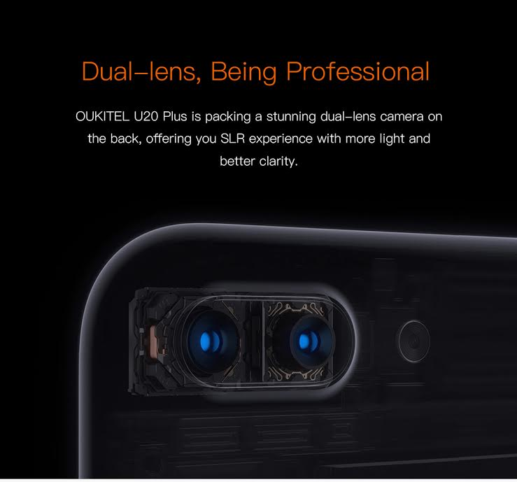 Oukitel U20 Plus dual rear cameras