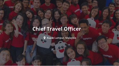 Tourism Malaysia Supports ShopBack Malaysia Search for Chief Travel Officer