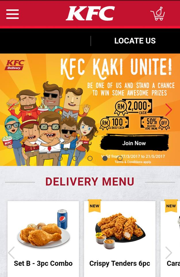 KFC Malaysia Enhanced and Optimised its KFC Delivery Service