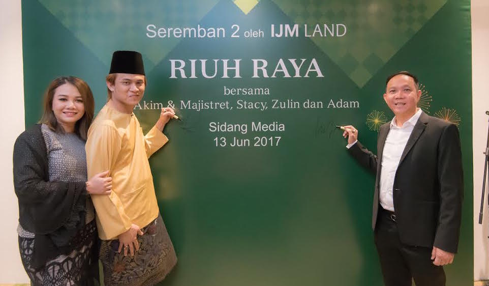 'Riuh Raya 2017' at IJM Land Seremban 2 on 15 July with Akim & Stacy