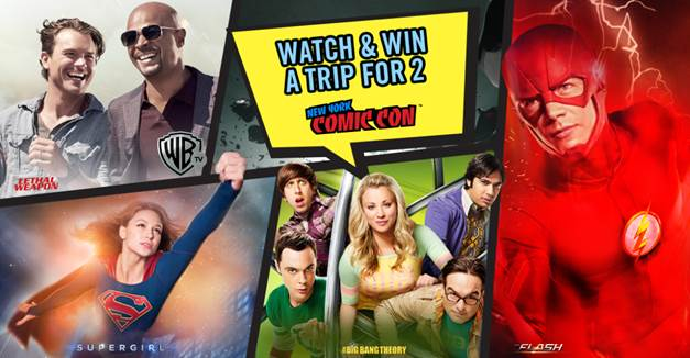 New York Comic Con 2017 Watch and Win Contest with Warner TV