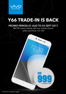 Trade Old Phone for RM100 Rebate on Y66
