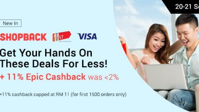 11street upsize cashback with ShopBack and Visa