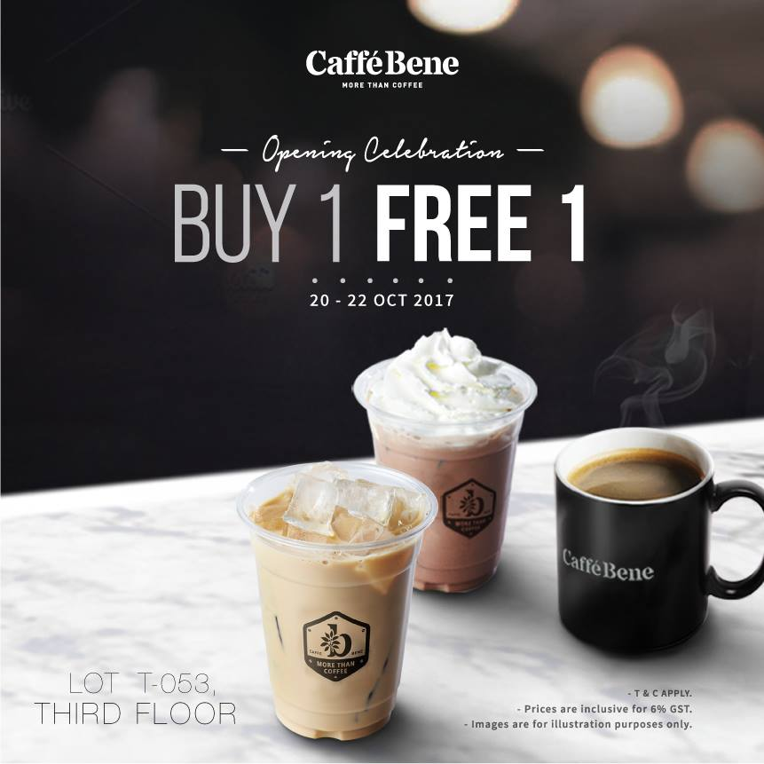 Caffe Bene Buy 1 Free 1 Espresso Beverages