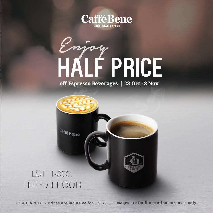 Caffe Bene Half Price Espresso Beverages