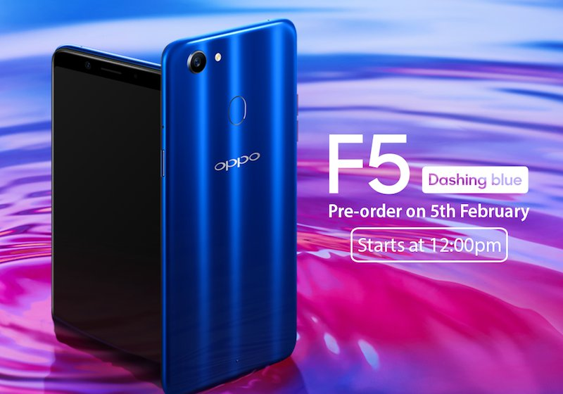 OPPO F5 Dashing Blue Edition for Valentine's Day