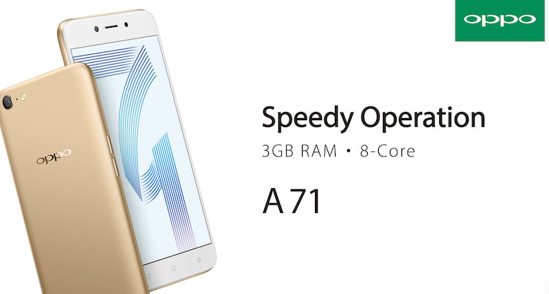 The all-new OPPO A71 (3GB) with 32GB ROM at RM699