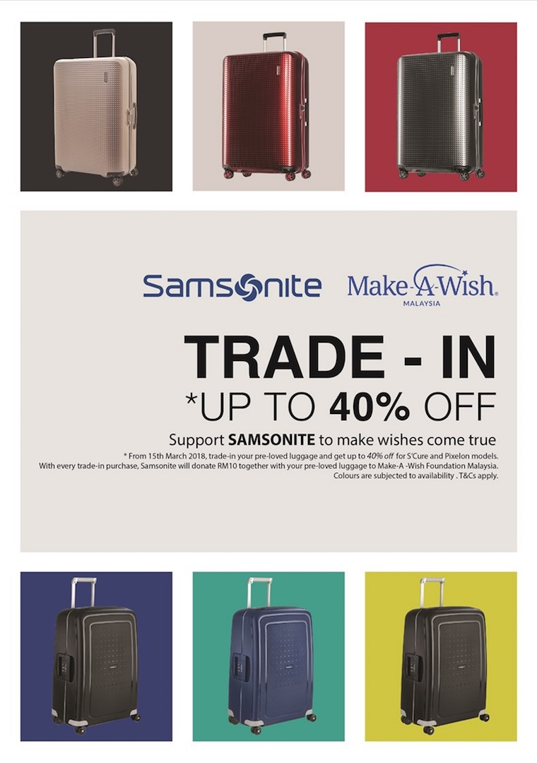 Samsonite Malaysia Making Wishes Come True
