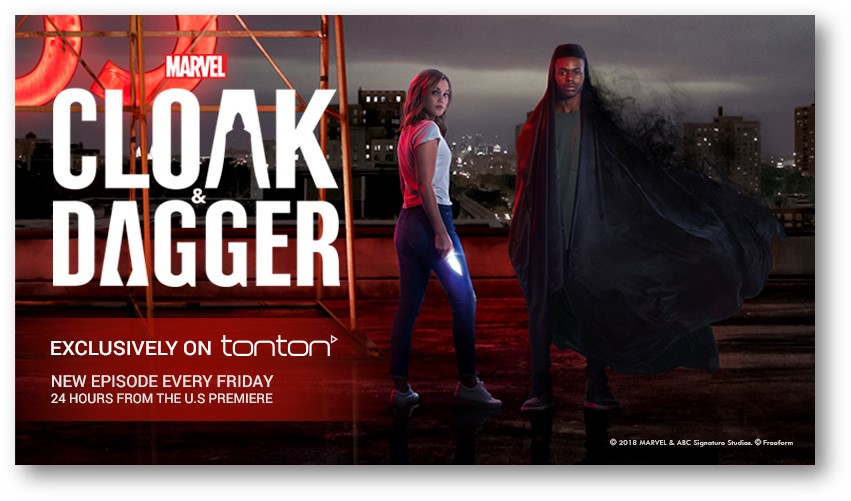 Marvel's Cloak & Dagger 1st Debut Malaysia Exclusively on Tonton