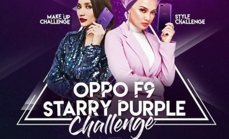 OPPO F9 Starry Purple Make-Up Challenge