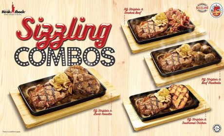NY Steak Shack's Sizzling Combos, Available From 4 March Until 28 April 2019