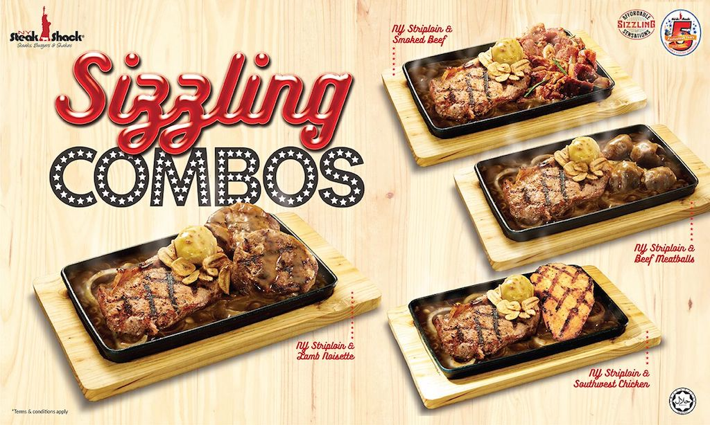 NY Steak Shack's Sizzling Combos
