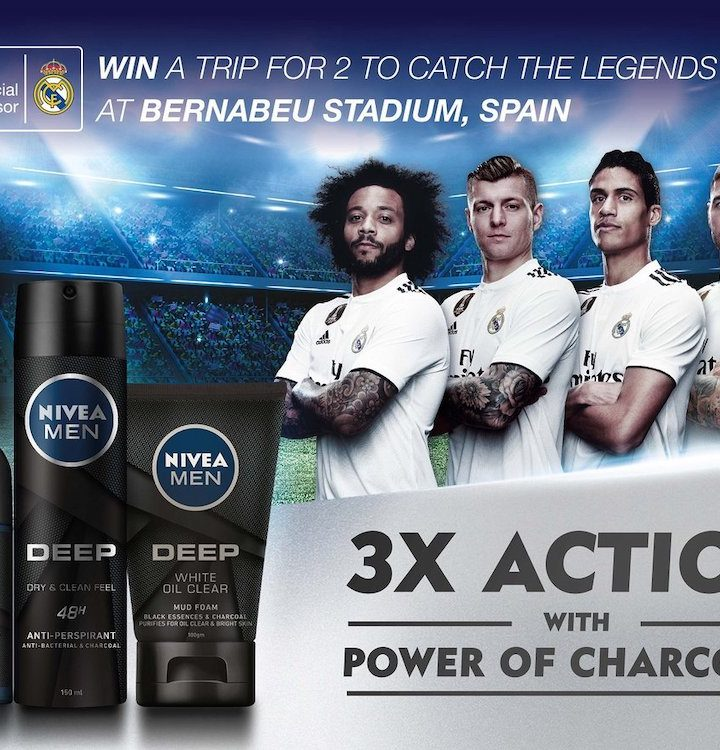 Witness Real Madrid Team Live in Spain With Nivea Men