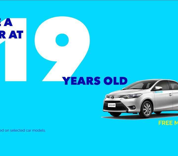 SOCAR Officially Lowers Its Minimum Age Requirement to 19 Years Old