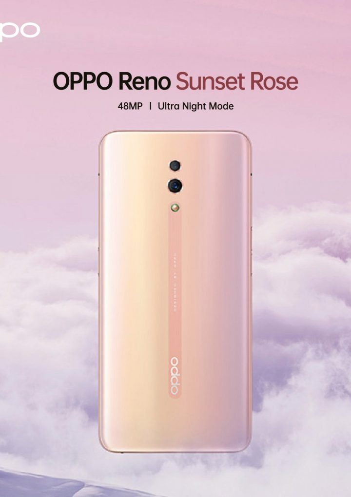 New OPPO Reno Colour Variant – Sunset Rose @ 2 July 2019