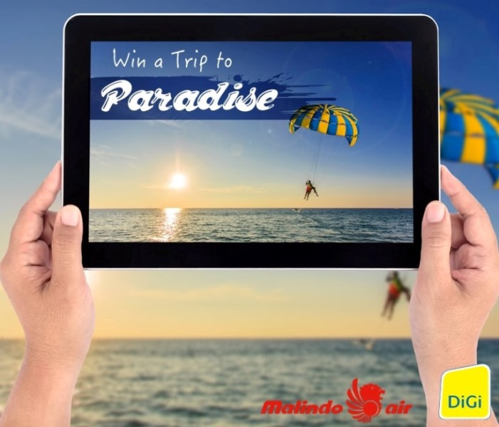 Experience Paradise with DiGi and Malindo Air!