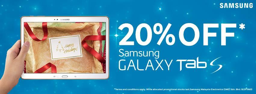 20% Off Samsung Galaxy Tab S
