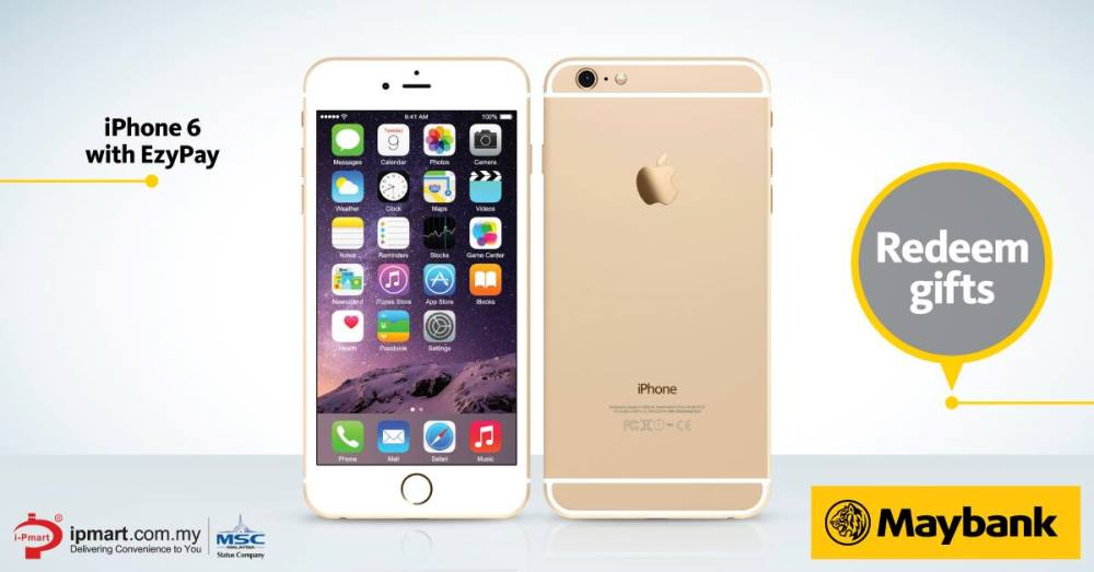 Get iPhone 6 with EzyPay by Maybank