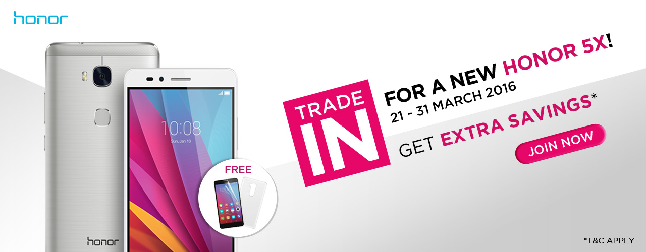 Trade in honor 5x