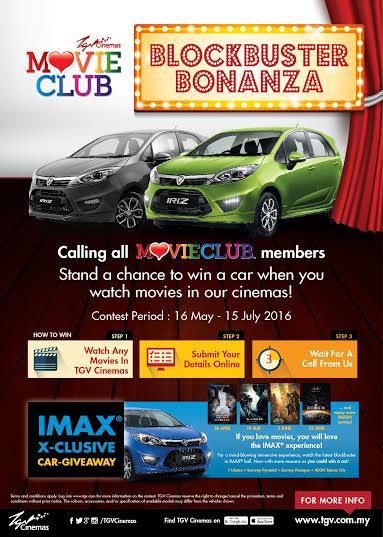 Proton Iriz For Members Of Tgv Cinemas Movieclub