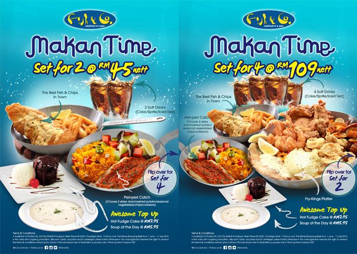 Fish & Cos Makan Time
