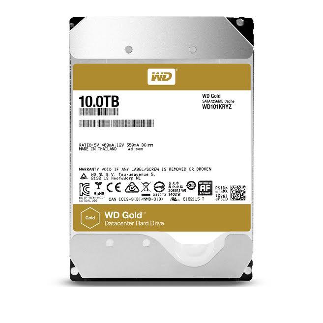 Western Digital Increases WD Gold Hard Drives Capacity