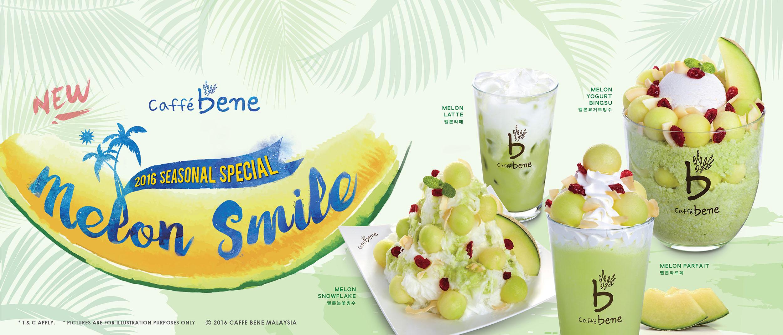 Caffè Bene Malaysia 2016 Seasonal Special Menu Melon Smile