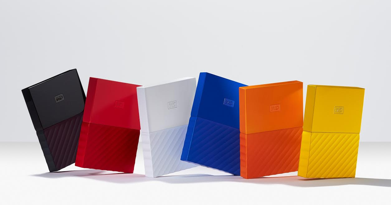 My Passport drives will come in six vivid colors