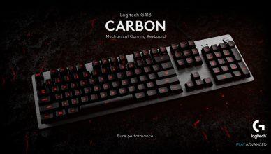 The Logitech G413 Carbon Mechanical Backlit Gaming Keyboard