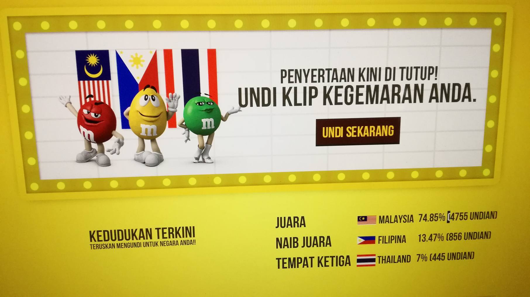 Malaysian Wins Regional M&M's Screenbite Awards 2017
