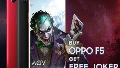 FREE Joker in AOV when purchase OPPO F5