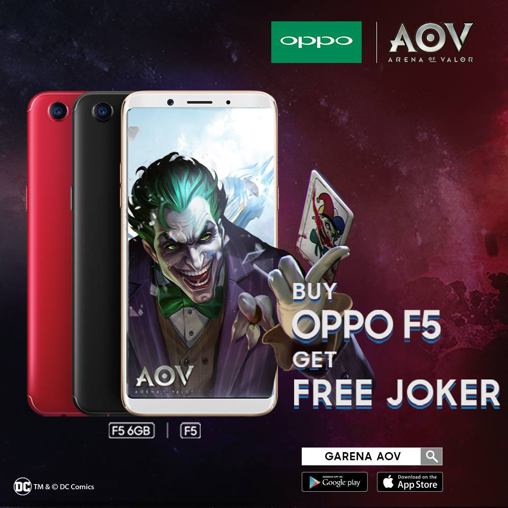 FREE Joker in AOV when purchase OPPO F5