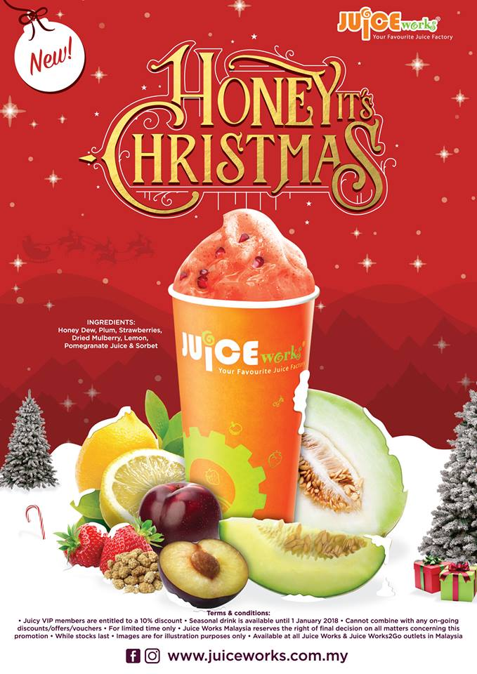 Juice Works Honey, its Christmas