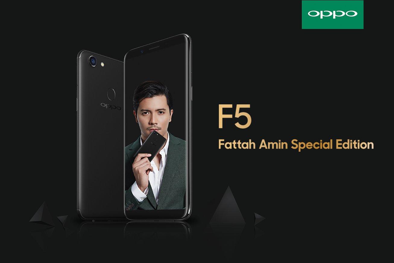 OPPO F5 Fattah Amin Special Edition Sparkle Your 2018!