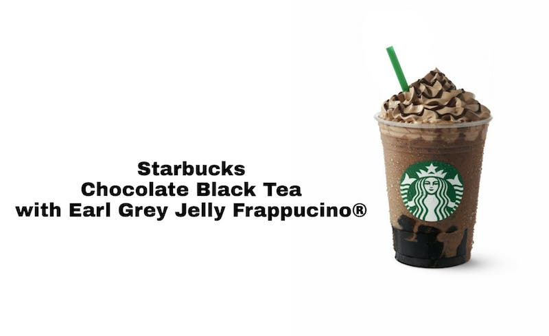 Starbucks Chocolate Black Tea with Earl Grey Jelly Frappuccino