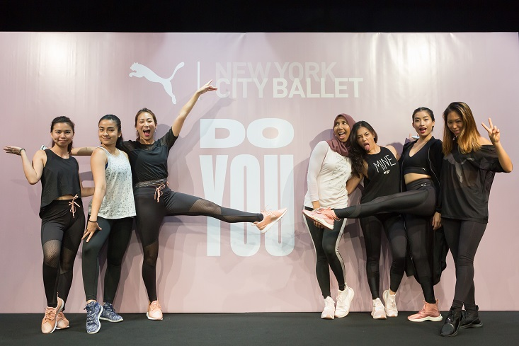 Members of the PUMA Team Faster joined by PUMA Malaysia's DO YOU ambassador, Vanessa Tevi